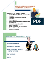 Duties & Qualities of Safety Officers