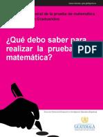contenido prueba de graduandos matematica