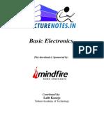 161034 Basic Electronics by Lalit Kanoje