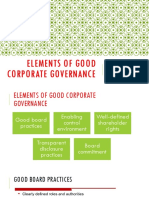 Elements of  Good Corporate Governance