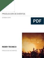 Produccion de eventos