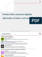 Analisi Dello Scenario Digitale Dell'Audio