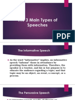 The 3 Main Types of Speeches