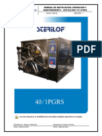 Manual de usuario Autoclave Sterilof