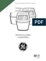 Manual de Uso y Cuidado Llavadora General Electric