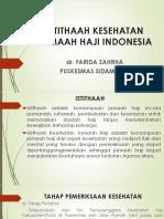 PPT Istithaah Kesehatan Haji