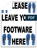 Leave Your Foot Ware Here