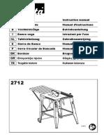 Manual Sierra de Banco 2712