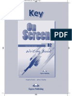 On Screen B2 New Writing Book Key
