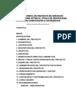 ESQUEMA DE PERFIL DE PROYECTO