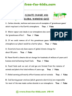 Environment Quiz - Climate Change and Global Warming