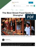 Street food shanghai
