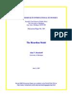 1. Ricardian Model