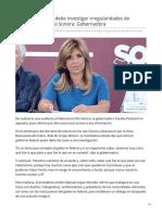 07-08-2019 Autoridad federal debe investigar irregularidades de Fideicomiso del Río Sonora Gobernadora - Proyecto puente