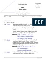 City of Winston-Salem, Finance Committee Agenda