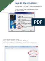 Instalación de Cliente Access y Service Packs