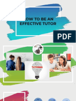 How to Be an Effective Tutor