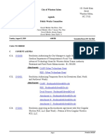 City of Winston-Salem, Public Works Committee Agenda