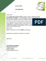 Carta Grupo Foclorco