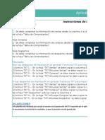 Planilla de Excel Para El Aplicativo de Compras y Ventas
