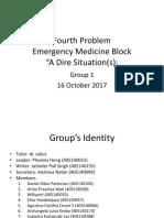 4th Problem Emergency Medicine Group 1