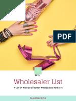 wholesaler list