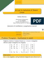Risoluzione sistemi lineari