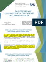 Ordenanza Sustitutiva de Construcciones y Edificaciones Del Cantón Guayaquil