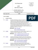 Winston-Salem, Public Safety Agenda. August 12, 2019