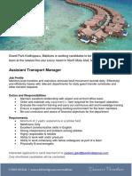 GPKD JobAd Assistant Transport Manager