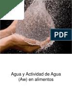 Actividad de agua en los alimentos