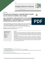 Sobrepeso infantil en Castilla y León