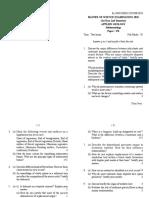Sedimentology question paper
