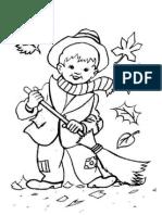 Dibujos de Otoño Para Colorear Gratis