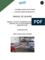manual de usuario para la puesta en marcha de una banda transportadora