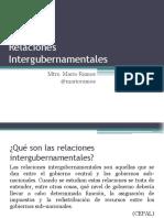 Relaciones Intergubernamentales