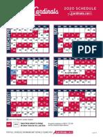 Cardinals 2020 Schedule