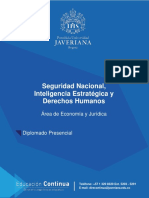 Seguridad Nacional, Inteligencia Estrategica y DD.hh.-Diplomado Javeriana