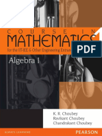 Algebra 1 Course in Mathematics for the IIT-JEE and Other Engineering Exams