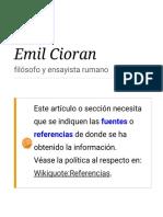 Emil Cioran Citas
