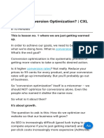 What is Conversion Optimization CXL