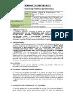 Tdr Servicio de Equipo Topofrafico Julio