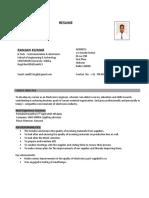 Resume Electronics and Telecom