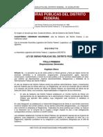 Ley de Obras Publicas Del Distrito Federal