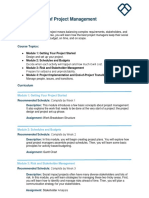 Syllabus Fundamentals of Project Management Static