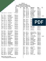 Detroit Pistons 2019-20 Schedule