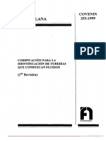 COVENIN 253-99 - codificacion para la identificacion de tuberias