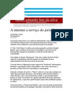 A Internet a Serviço Do Jornalismo - OMBUDSMAN