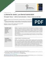 Aguilar-Tamayo Et Al 2015, La Libertad de Cátedra, Libertad Mal Entendida