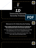 I.D - Security Online Training